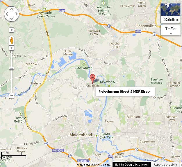 How to find us with Google Maps - image copywrite Google Maps