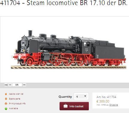 Fleischmann Steam Loco 411704