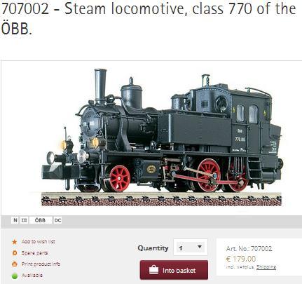 Fleischmann Steam Loco 707002