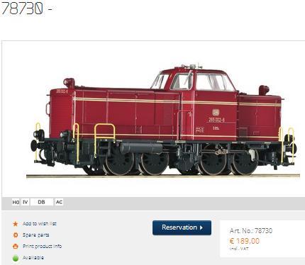 Roco Diesel Loco 78730