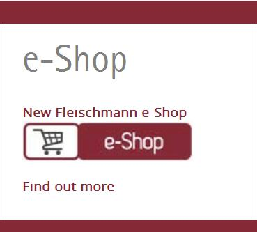 New Fleischmann e-Shop Entrance