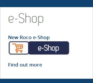 New Roco e-Shop Entrance