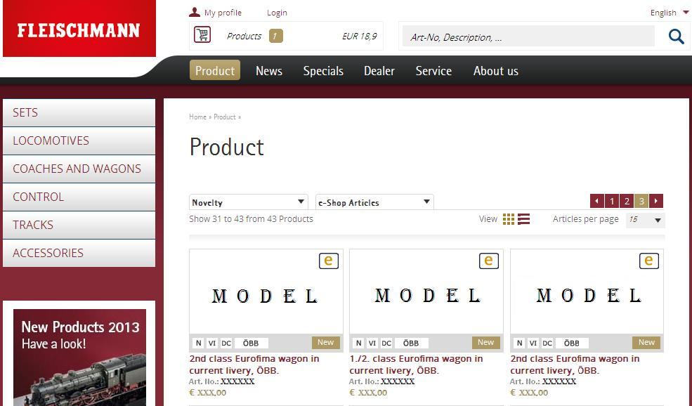 New e-Shop Service Offer Window